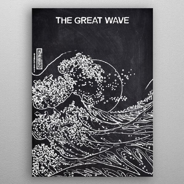 THE GREAT WAVE by FARKI15 DESIGN | metal posters - Displate | Displate thumbnail