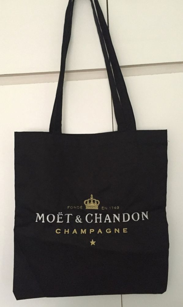 35e9335e7c01 Canvas Totes. IT HAS BEEN MADE FROM A HEAVY DUTY COTTON CANVAS. MOET  CHANDON CHAMPAGNE EMBROIDERED CANVAS