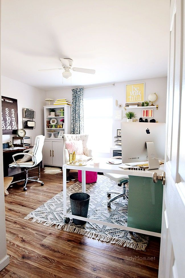 Decorating a Shared Home Office