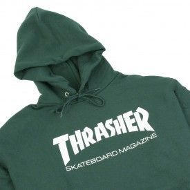 630dfefff0e7 Thrasher Skate Mag Logo Hoodie in Forest Green - Detail