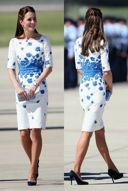 Kate Middleton Kleid Mohnblume | Mode | Pinterest | Kate middleton ...