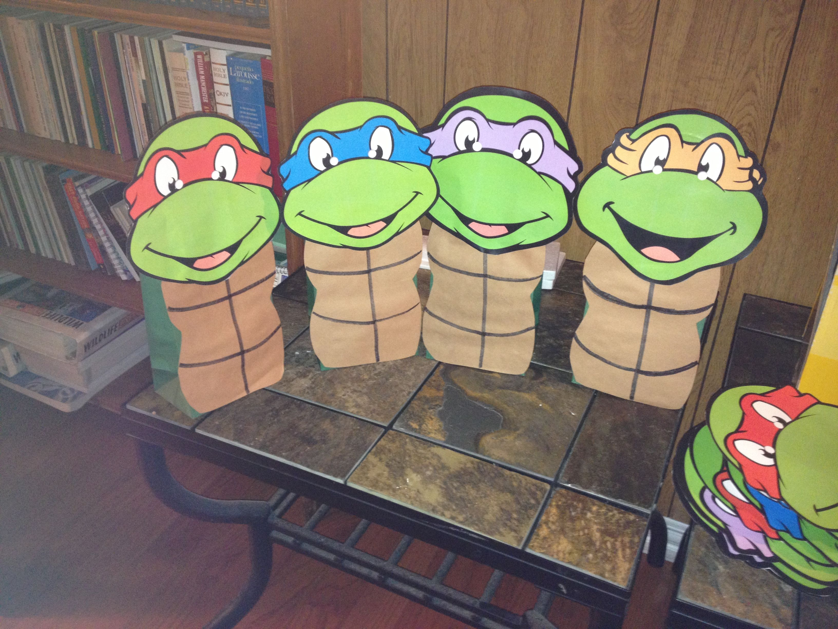 Ninja Turtle Goody Bags Ninja Turtles Birthday Party Ninja Turtle Party Turtle Birthday Parties