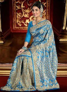 Latest Brocade Bridal Saree Collection 2013/2014 | Indian Brocade Sarees | Indian Saree New Arrivals