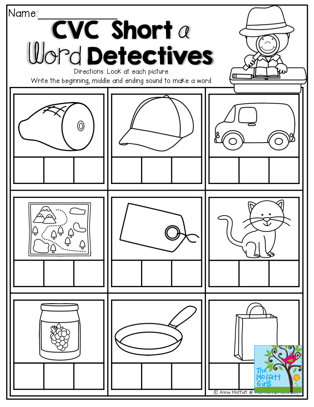 Build The Cvc Word Beginning Middle And Ending Sounds Tons Of Back To School Printables