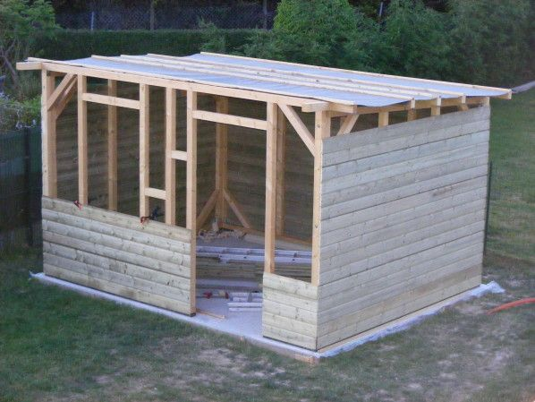 construction de mon abri de jardin abri de jardin pinterest construction pergolas and pallets. Black Bedroom Furniture Sets. Home Design Ideas