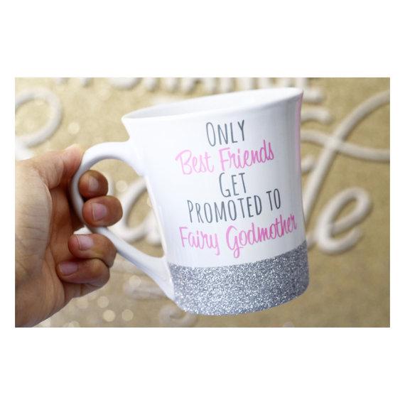 Godmother Gift Custom Glitter Mug Fairy Godmother Mug,Godmother Quote Best Godmother Fairy Godmother Gift Godmother Mug God Mother Mug