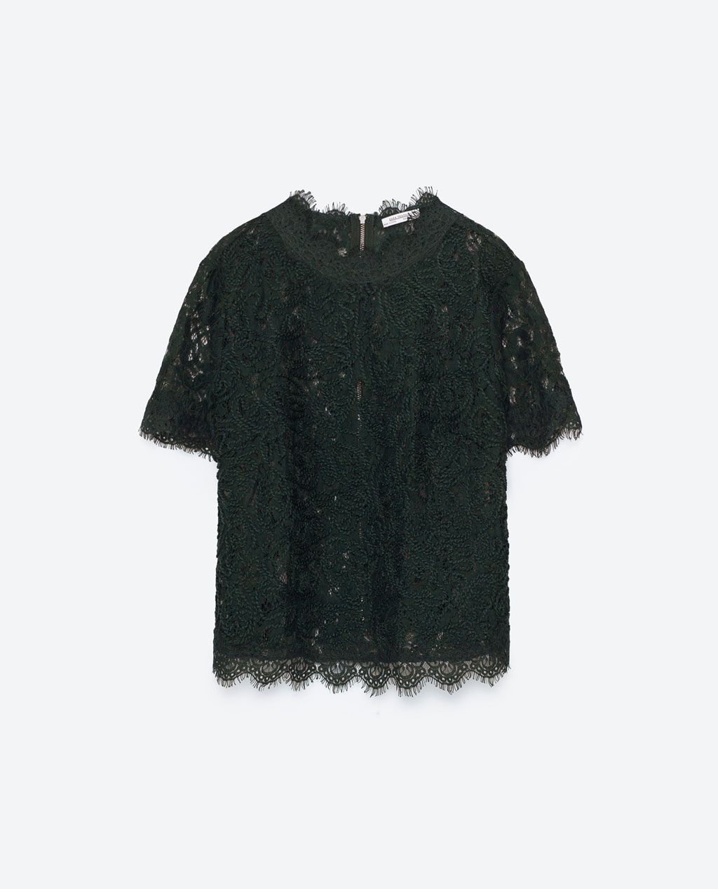 a44424e6 Image 8 of EMBROIDERED LACE T-SHIRT from Zara | zara 4ever in 2019 ...