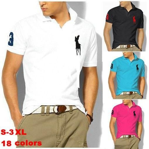 Short Sleeve Men Brand Polo Plus Solid Shirts Shirt Casual Popular YDE9WIH2