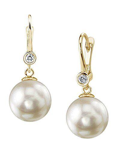 14K Gold White Akoya Cultured Pearl Linda Earrings Qtk2L0qf
