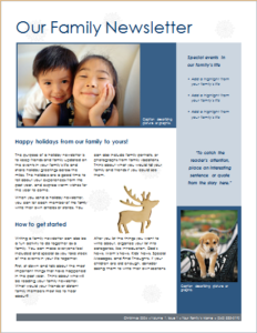 Family christmas newsletter DOWNLOAD at http://www.templateinn.com ...