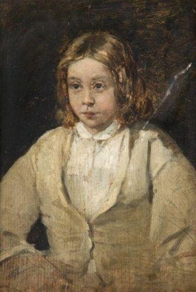 Jean-François Millet - Portrait de jeune fille