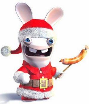Quel est le rapport entre le lapin crétin de Noël et une saucisse