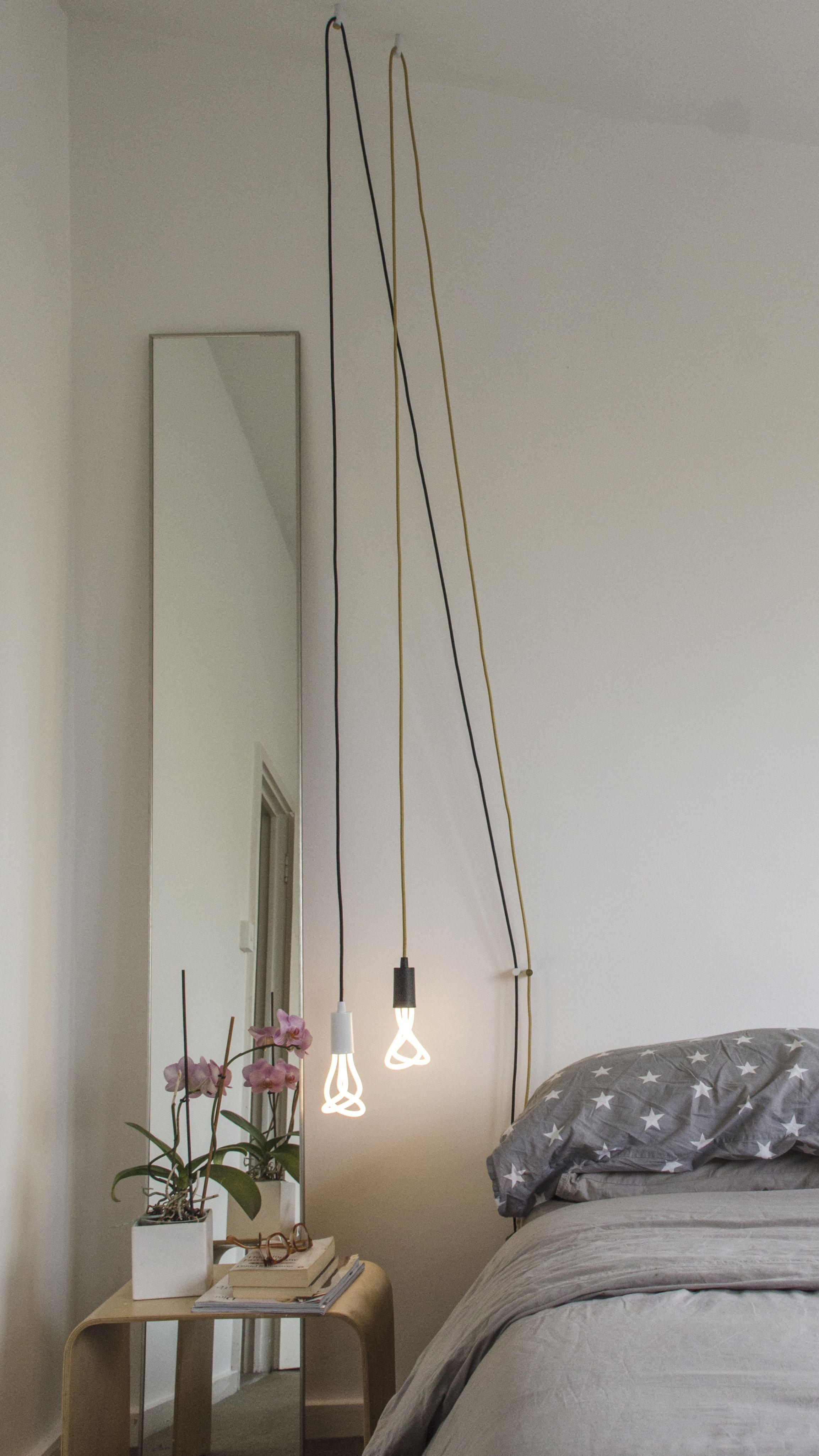 Plumen 001 LED Bulb And Plumen Pendant Set Bedside