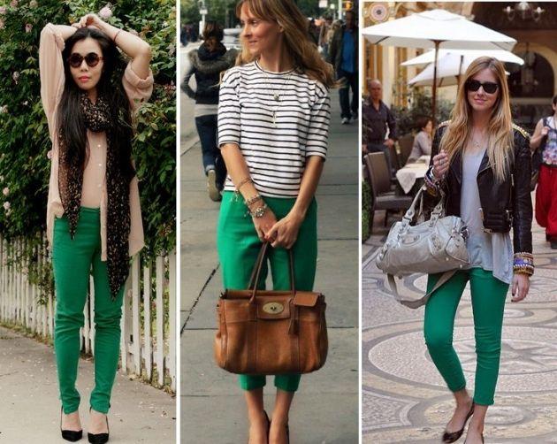 Tendencias Pantalones De Colores Ropa Pantalones De Colores Pantalones Verdes Mujer