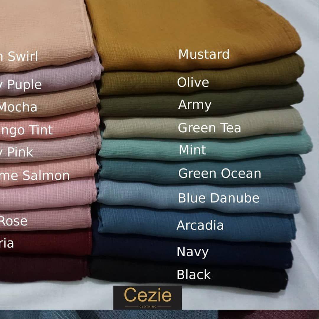 Cezie Premium Cornskin Jilbab Segi Empat Rp55 Rb Bismillahirrahmanirrahim Colorful Fashion Fashion Inspiration Design Color Combinations For Clothes