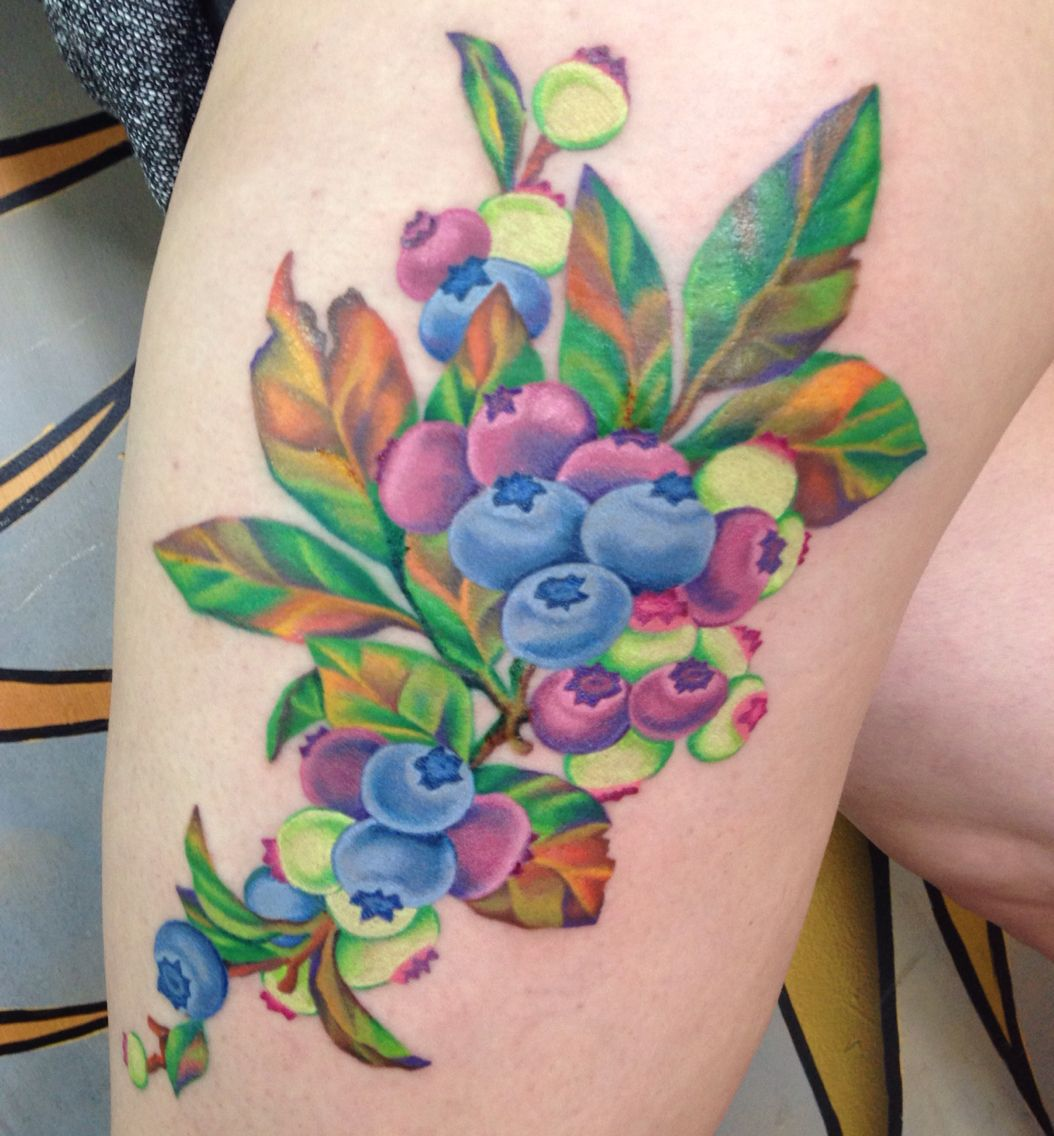 Neil Gaiman Blueberry Girl Inspired No Outline High Color Tattoo Blueberries Color T Half Sleeve Tattoo Half Sleeve Tattoos Designs Cool Half Sleeve Tattoos