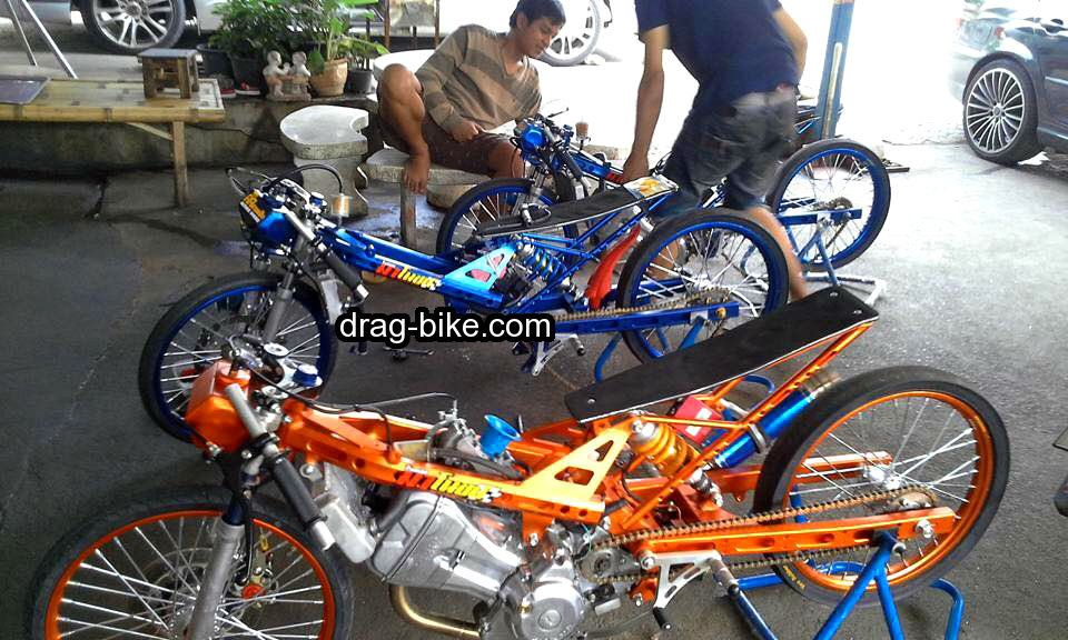 Mothai Thailook Modifikasi Sonic Drag Racing Minibike Drag