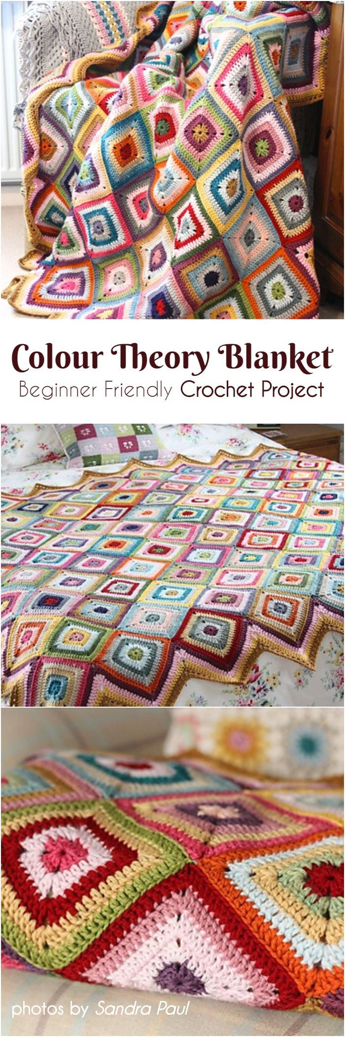 Colour Theory Blanket  Beginner Friendly Crochet Project Colour Theory Blanket  Beginner Friendly Crochet Project