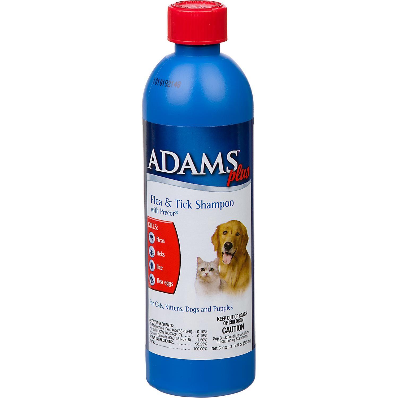 Adams Plus Flea Tick Shampoo With Precor For Dogs And Cats Fleas Flea And Tick Flea Shampoo For Cats
