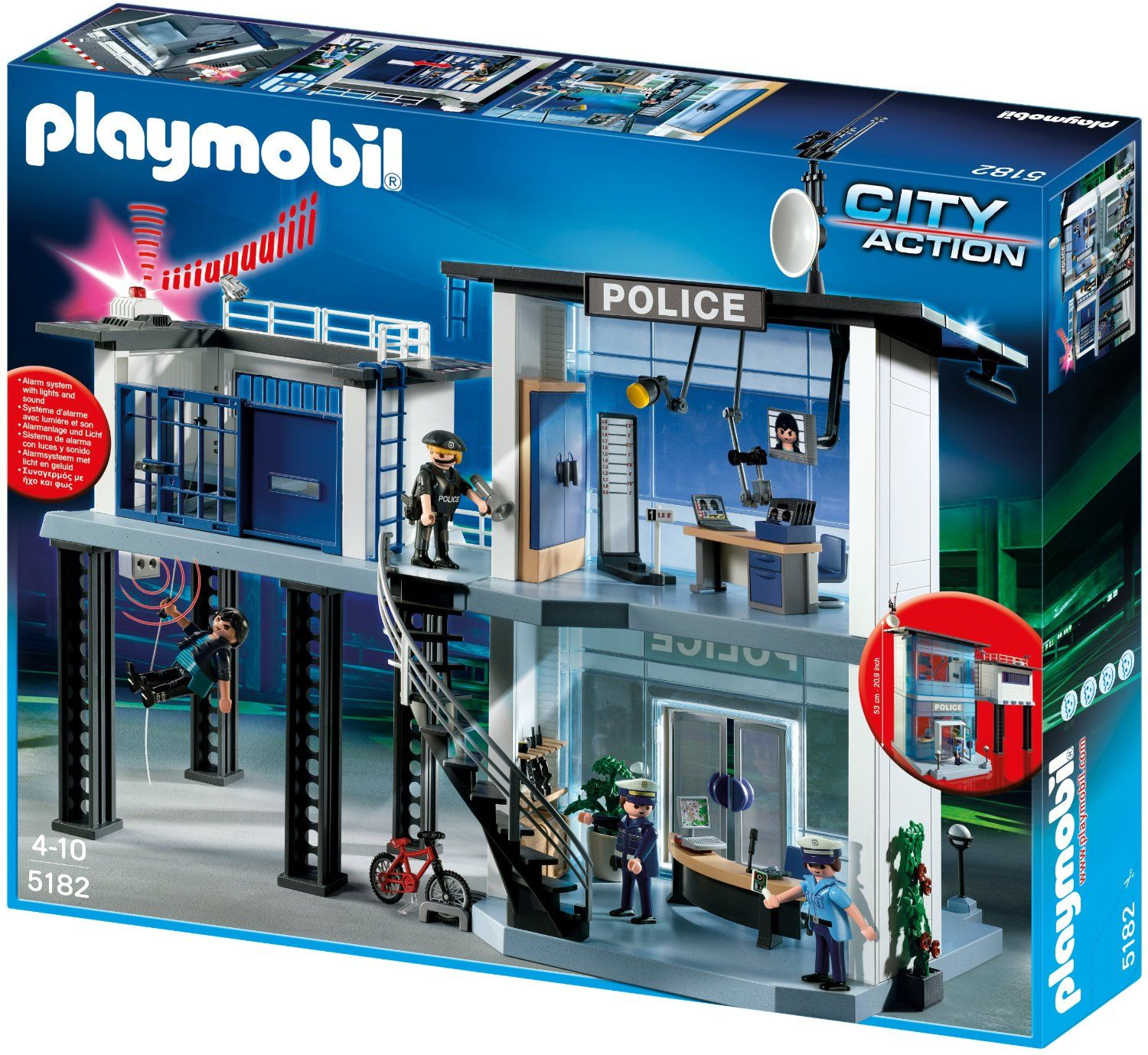 Amazon Com Playmobil Police Station With Alarm System Toys Games