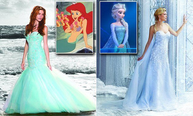 e4d9b8832b Bridal company Alfred Angelo today unveiled a new collection of wedding  dresses inspired by nine different Disney princesses