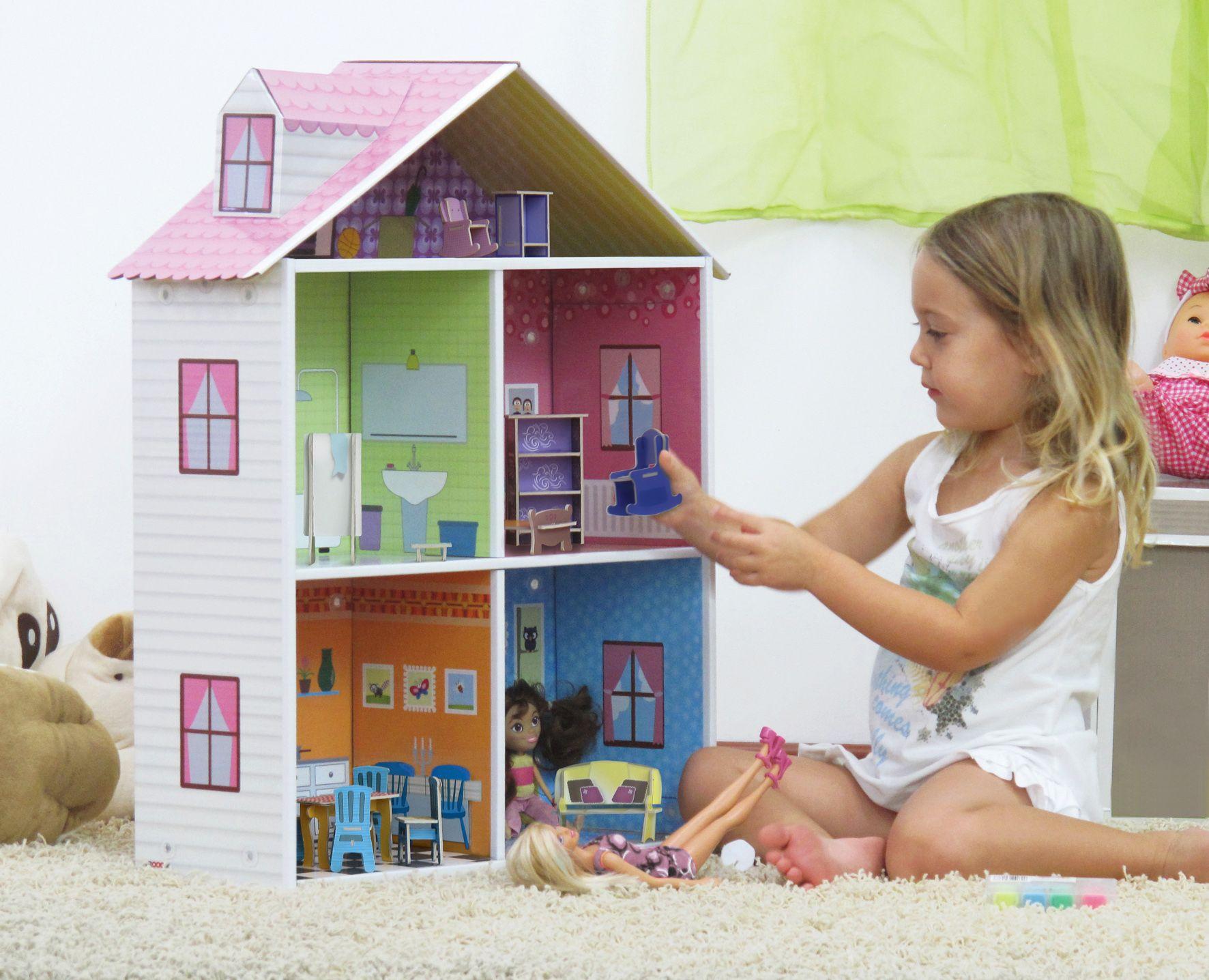 Como hacer casas de mu ecas con cart n casitas pinterest como hacer casas cart n y mu ecas - Como hacer muebles para casa de munecas ...
