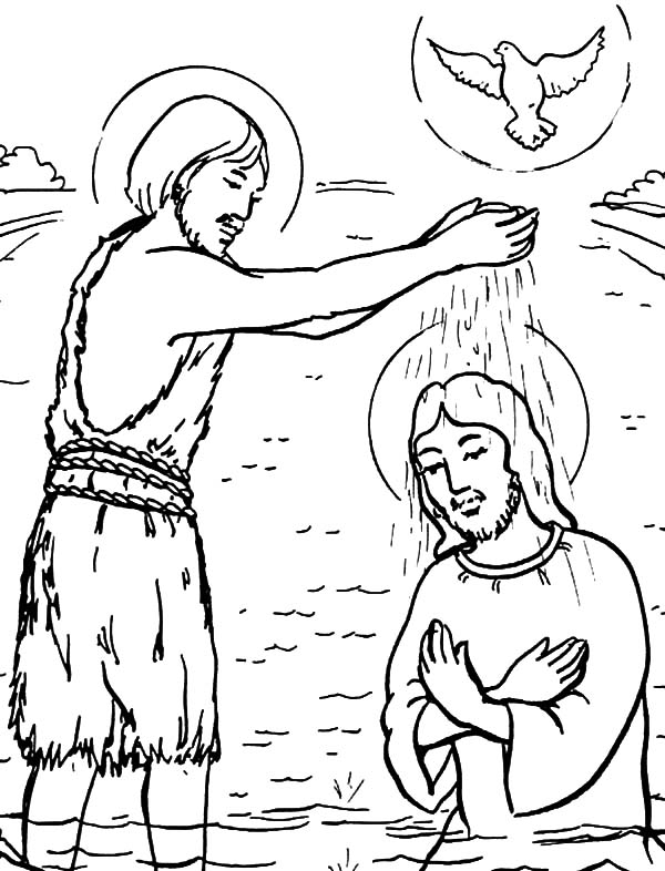 John Baptism Of Jesus Coloring Pages Best Place To Color Jesus Coloring Pages Coloring Pages Baptism