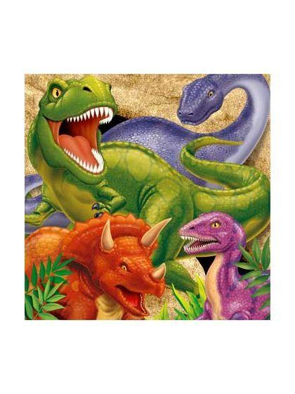 8 Party Loot Bags Dinosaur  Adventure