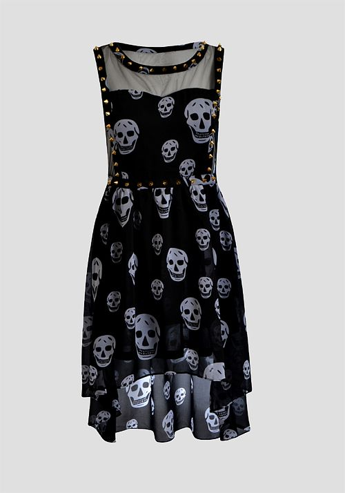 4613d8a8a2c Cute summer skull dress  skull  dark  women  fashion  dress