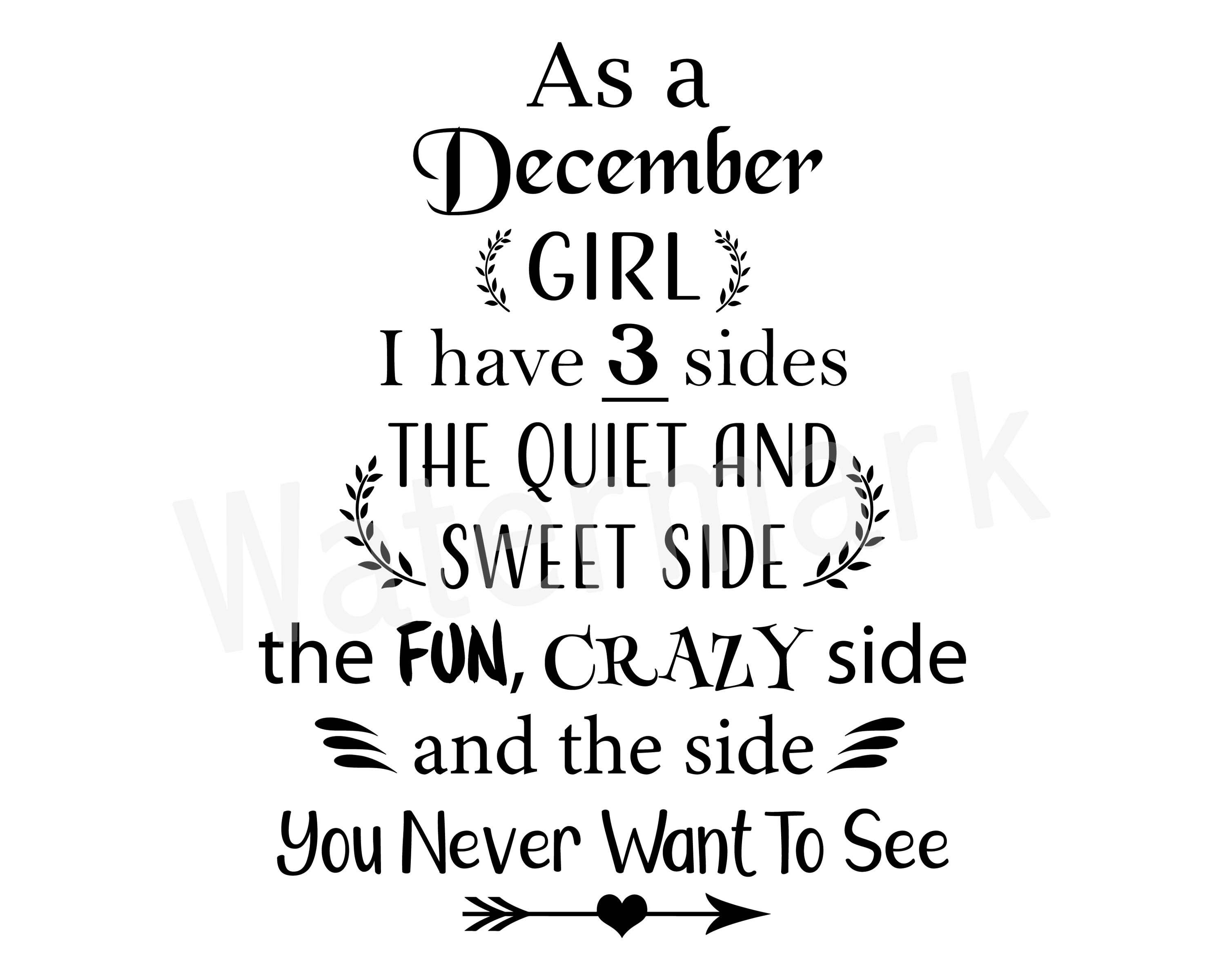 I'm A December Birthday Girl SVG, Fun And Crazy, Gift For
