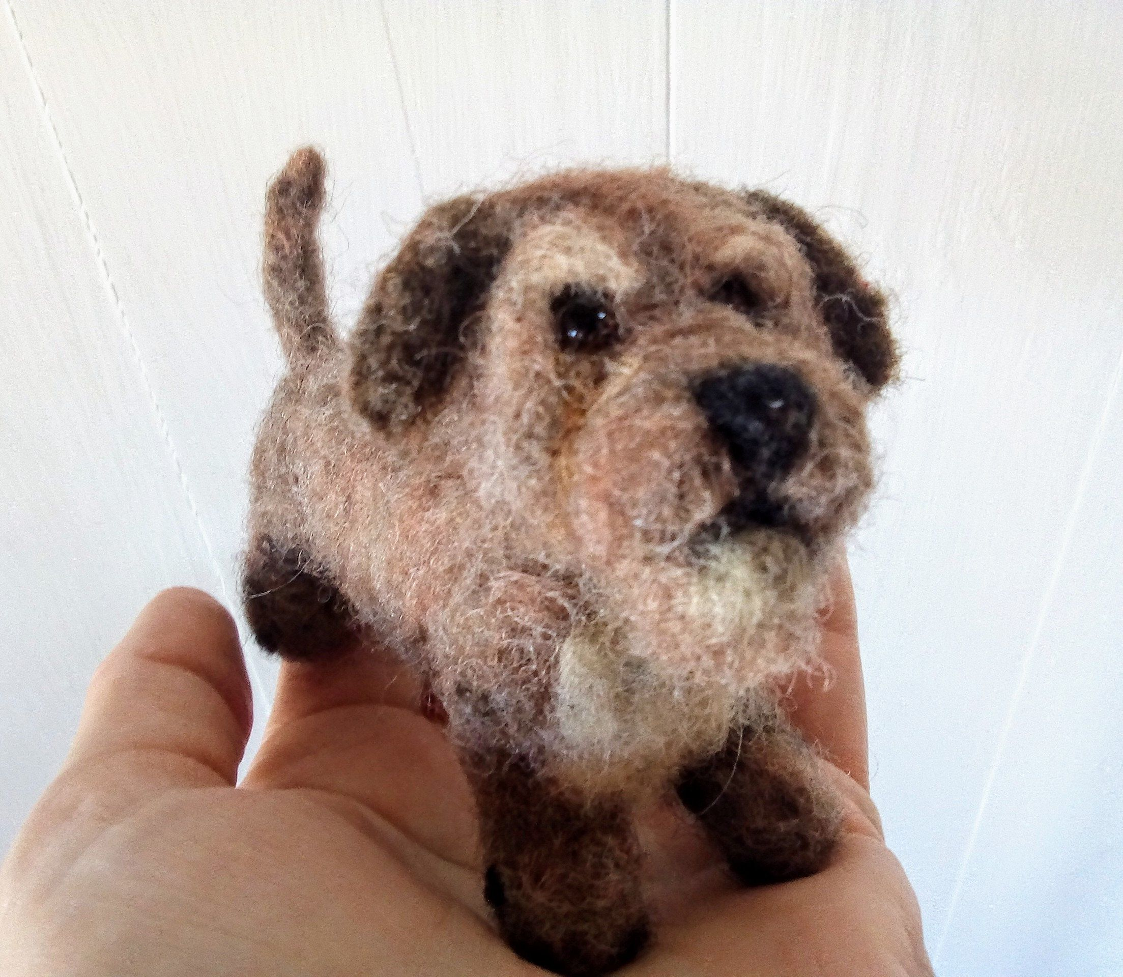 Miniature Needle Felted Rough Coated Dachshund Needle Felting