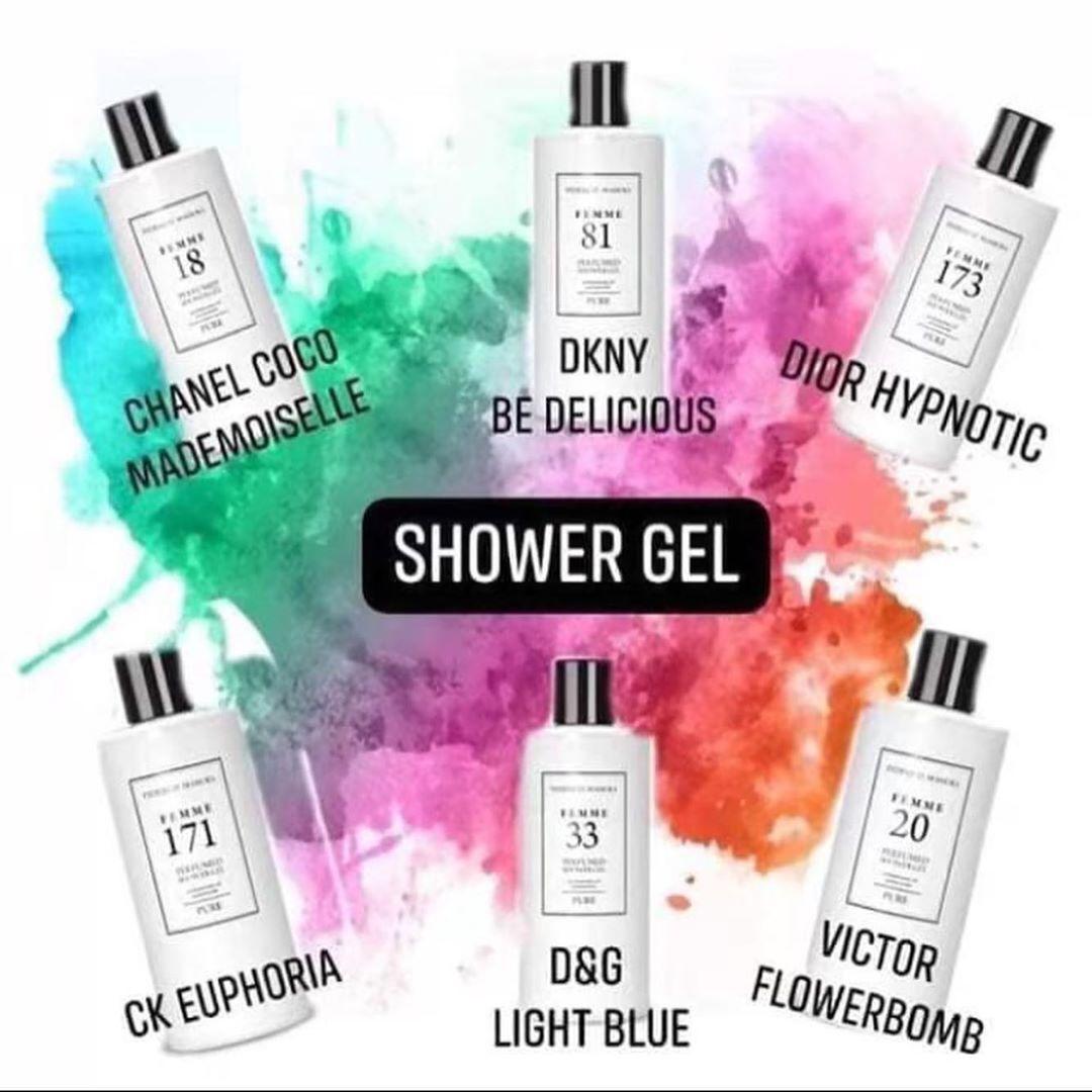 Image by Mirla S Geerman on FM Perfume, Shower gel