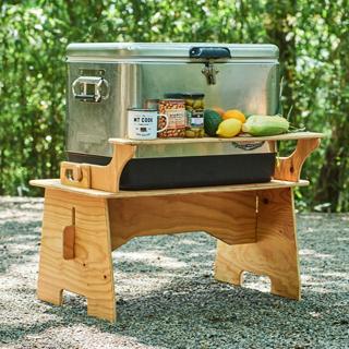 キャンプギアをdiy 変幻自在に使える木製キッチンテーブル Hondaキャンプ キッチンテーブル キャンプ キャンプ道具 収納