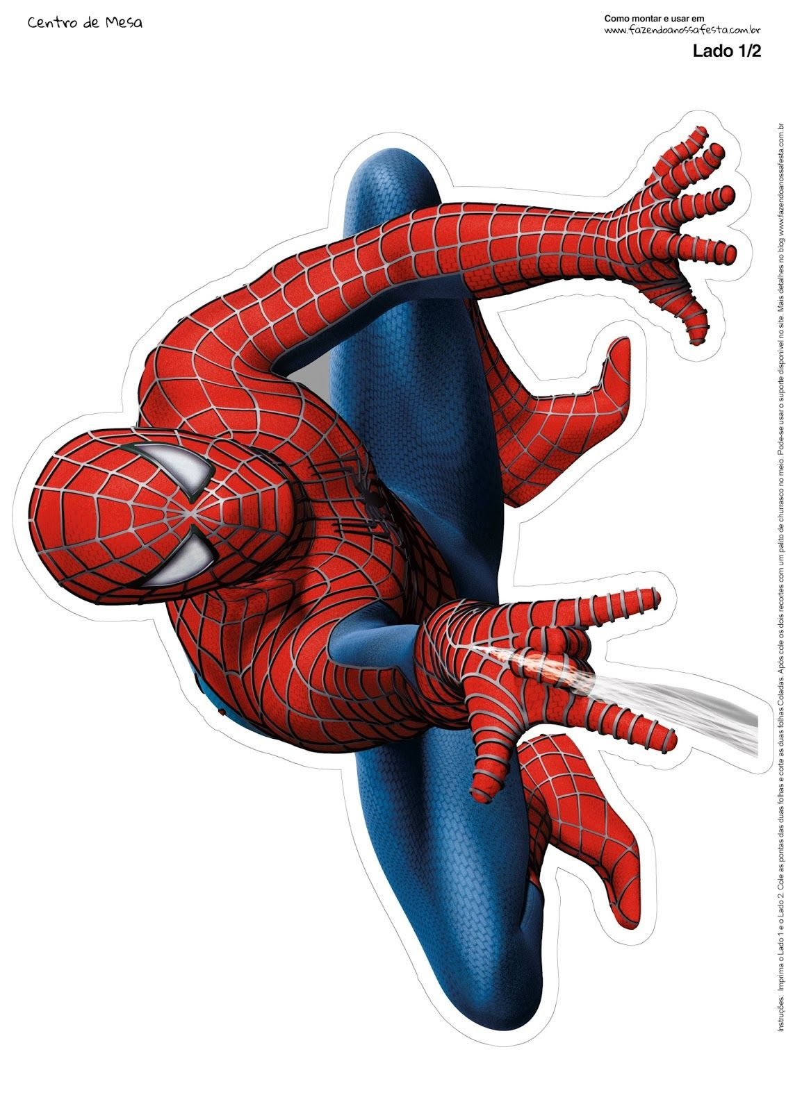 Spiderman Free Printable Centerpiece. Spiderman