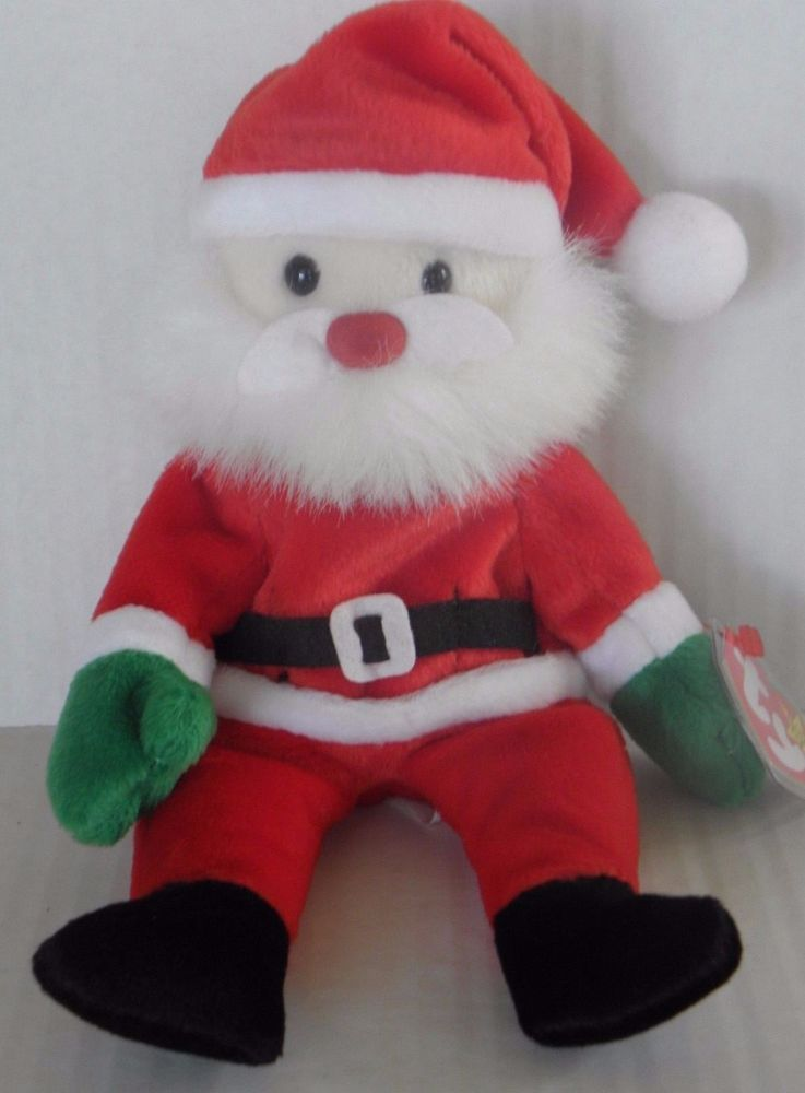 ceca24d314d TY Original Santa Beanie Baby Babies DOB December 6 1998 Retired PE Pellets  Tags  Ty