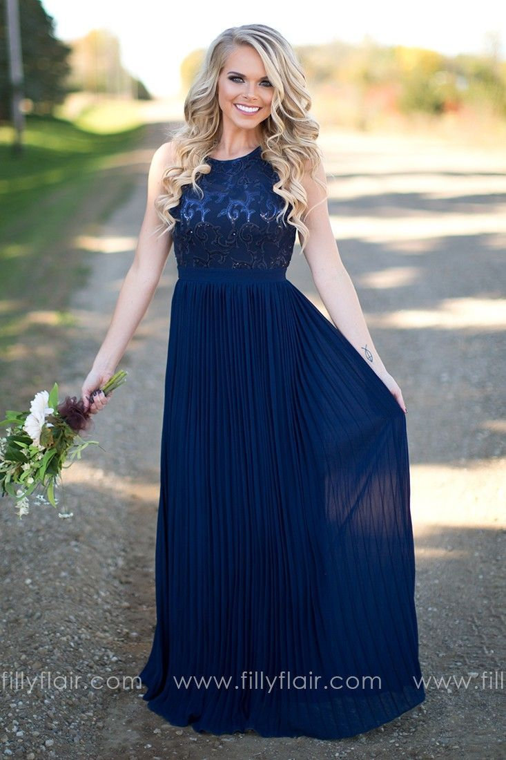 Stunning long navy bridesmaid dress bridesmaids pinterest stunning long navy bridesmaid dress ombrellifo Choice Image