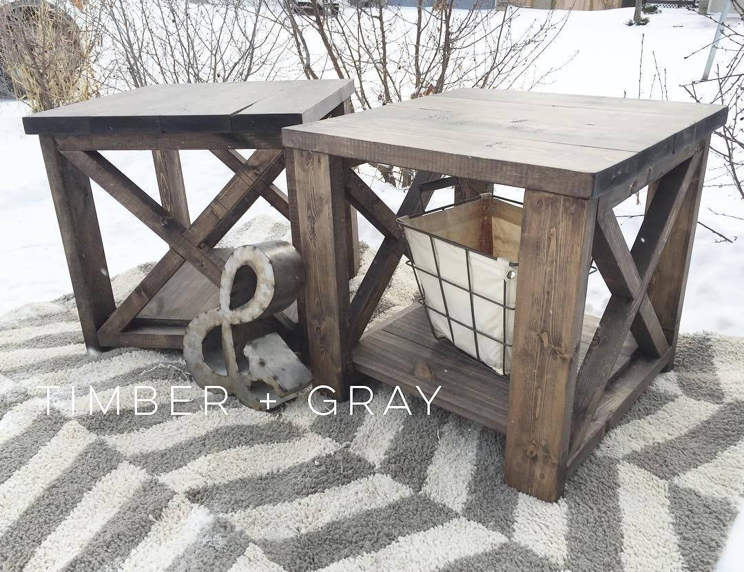 Rustic endtable ana white diy end table farmhouse coffee table
