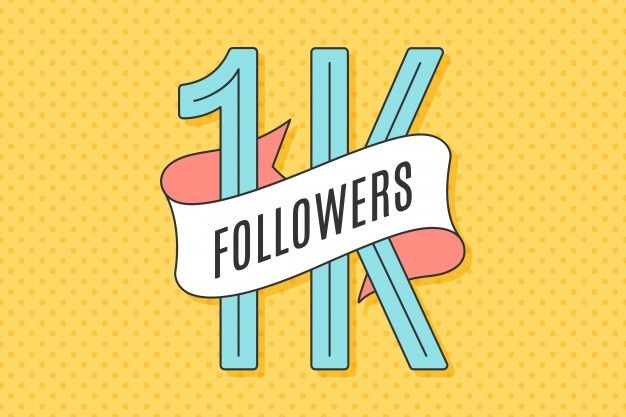 Banner with text one thousand followers ...   Premium Vector #Freepik #vector #background #logo #banner #ribbon