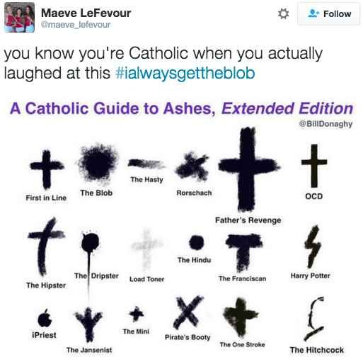 This Ash Wednesday chart that only Catholics will understand:I laughed way to hard lol