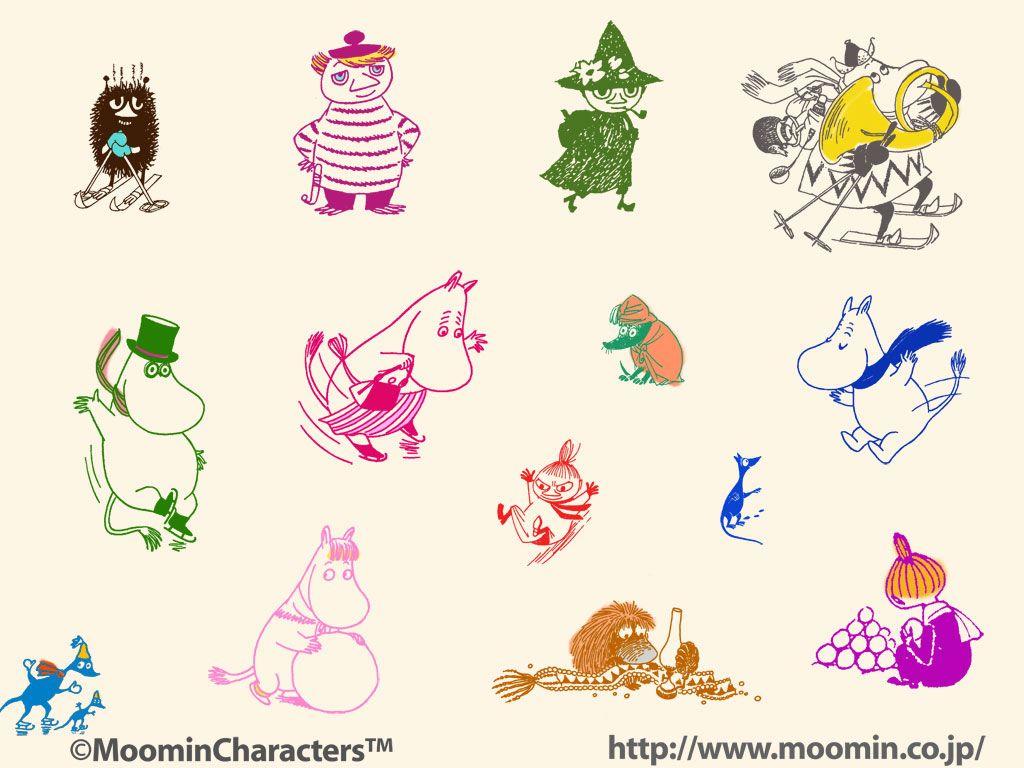 Moomin Characters 可愛いカード ムーミン イラスト ムーミン 壁紙