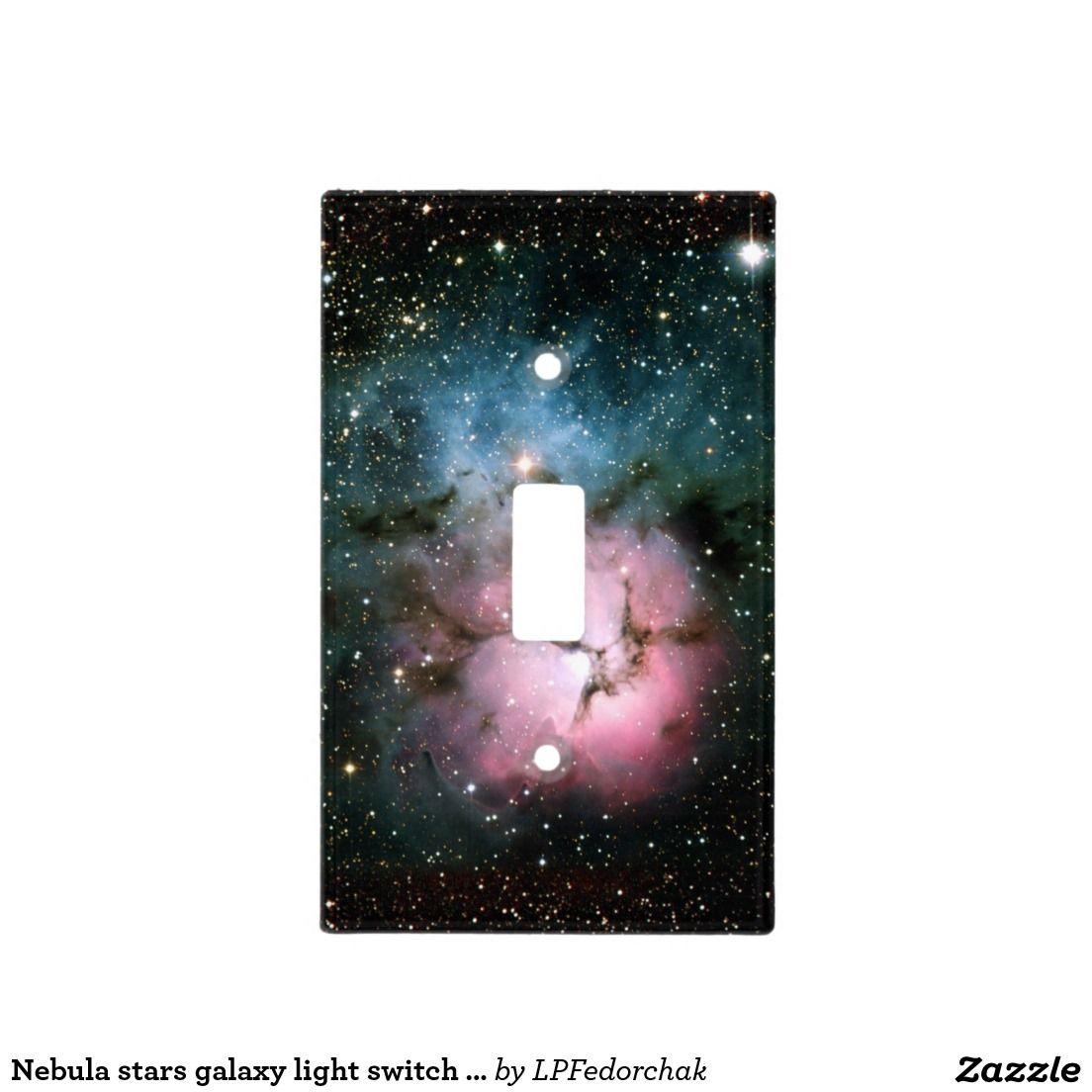 Nebula stars galaxy light switch cover