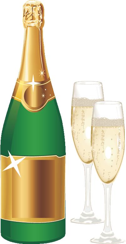 Картинки бутылка шампанского, днем рождения