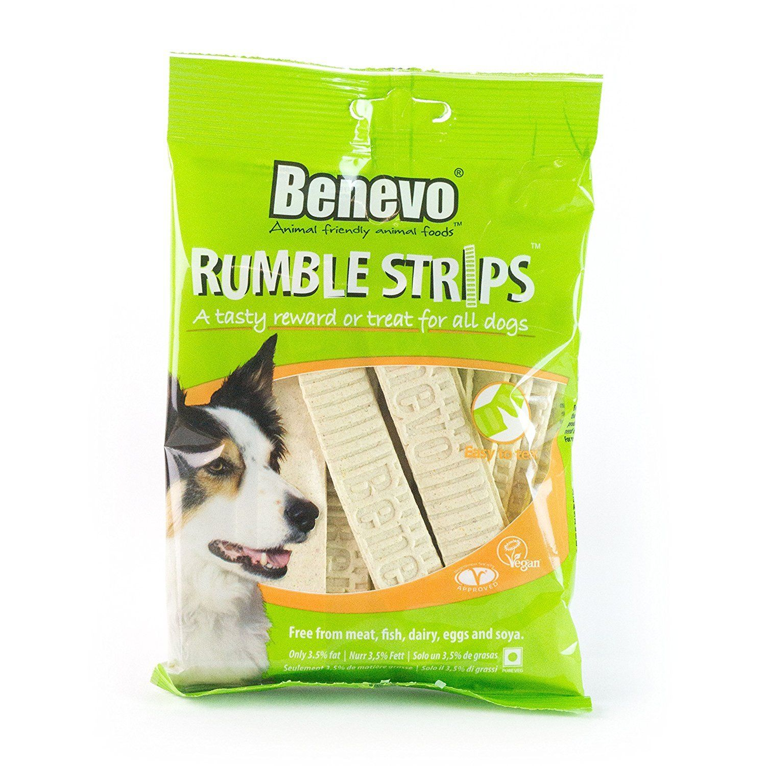 Benevo Rumble Strips Dog Treats Pack Of 20 Strips Thanks For