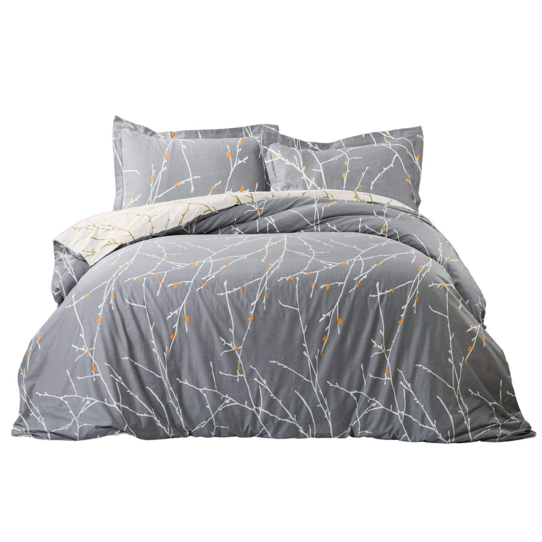 Johnpey Duvet Cover King 100 Cotton Comforter Cover Set Bedding Set 1 Grey Duvet Cover 104 X 90 2 Pillow Duvet Cover Sets Gray Duvet Cover Comforter Cover