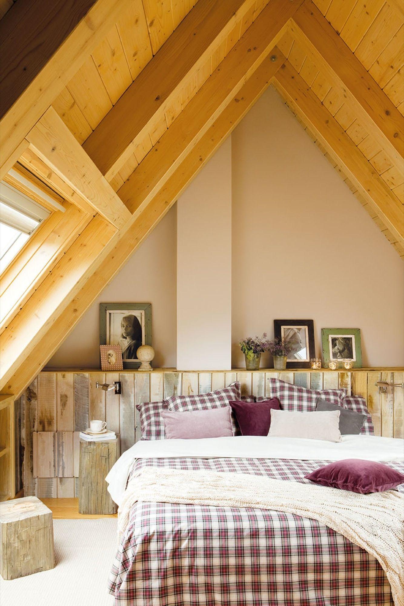 20 dormitorios r sticos con mucho encanto dekorasyon - Cabeceros de madera rusticos ...