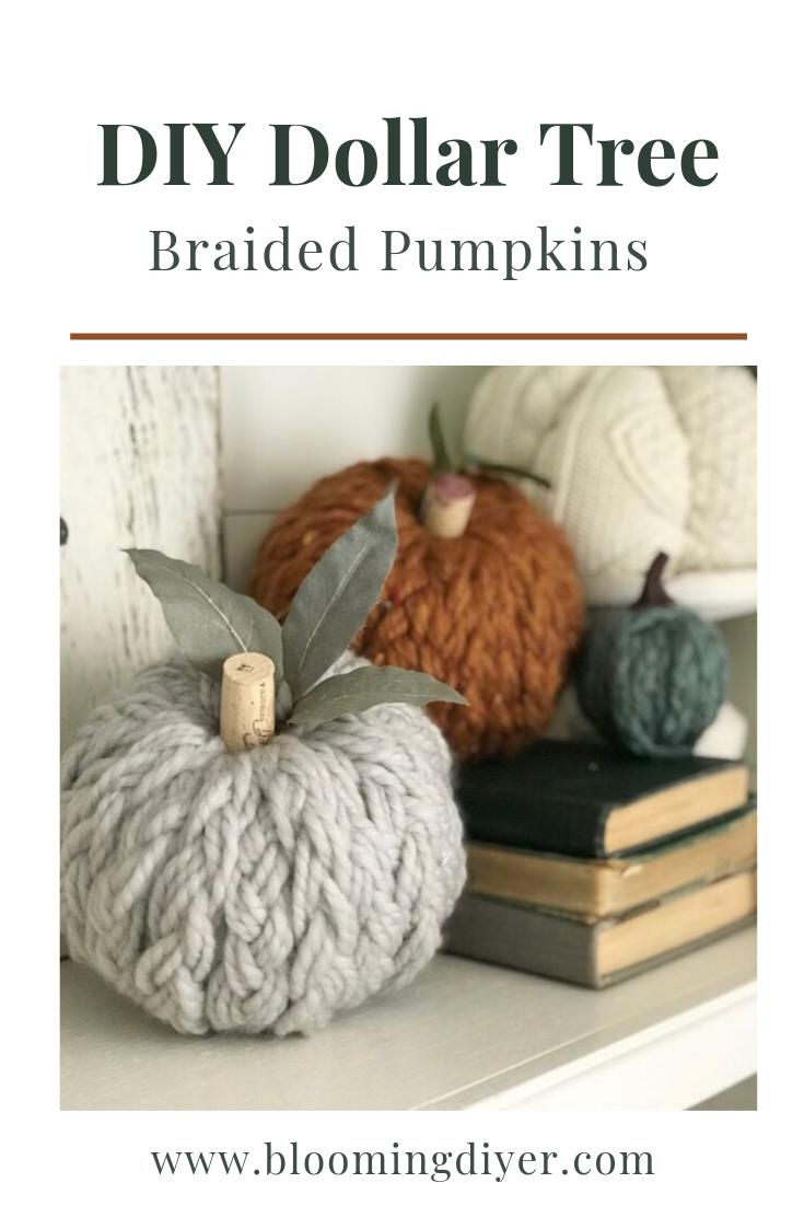 DIY Braided Dollar Tree Pumpkins