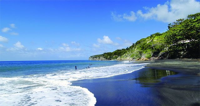 One of the black sand beaches on montserrat montserrat for Black sand beach caribbean