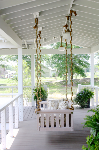 porch swing at 2013 Southern Living Idea House