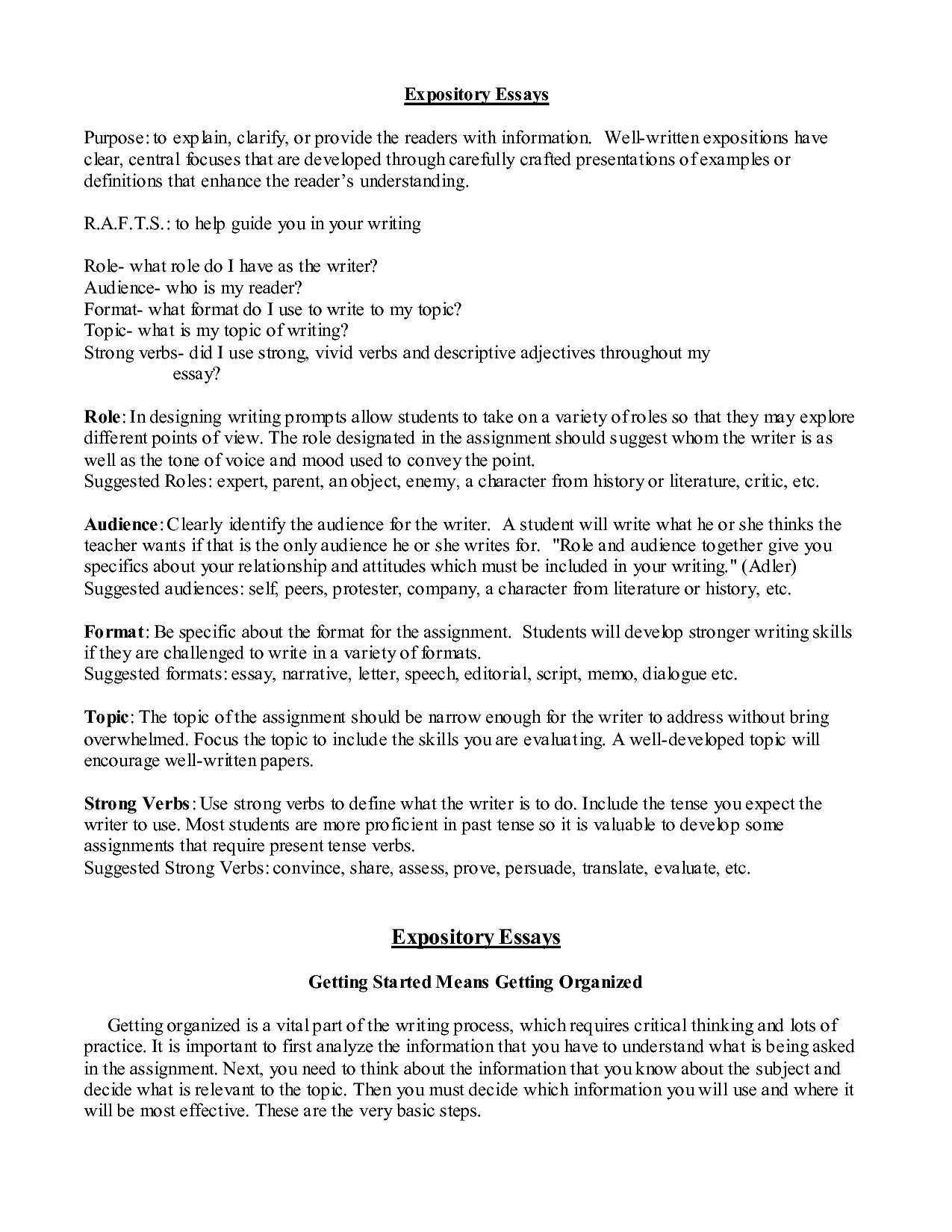 thesis statement for expository essay An expository essay, often required in high school and college classes, allows you to explore an opinion or make an argument about a particular idea the thesis statement usually appears at the end of the introductory paragraph of your essay, making a clear declaration about the opinion you wish to.