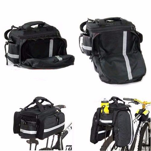 스페인 빠른 배송 블랙 컬러 높은 품질 자전거 자전거 가방 자전거 뒷 트렁크 가방 자전거 panniers